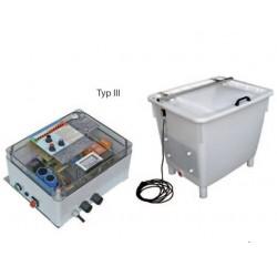 Appareil à électrocuter avec bac Type II et III