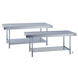 Table avec rebord