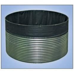 Bacs en acier galvanisé avec liner pour eau douce